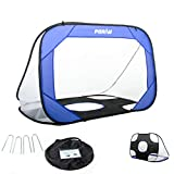 Poray Pop Up Collapsible Soccer Goal Net - 4FT Soccer Training Net for Kids & Adults - Made of Durable Steel Wire & 210D Oxford Fabric - Portable Compact Carry Bag - for Backyard and Soccer Practice