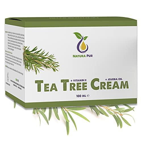 Crema Tea Tree BIO 100ml, vegan - per l'uso su pelle impura, infiammazione della pelle, crema anti brufoli, crema per l'acne