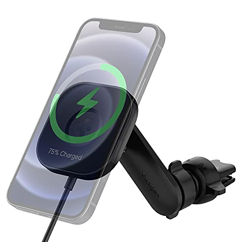 Spigen OneTap Pro Designed for Magsafe Fast Wireless Car Charger Mount Compatible with iPhone 13 Pro Max 13/13 Pro 13 mini/12/12 Pro/12...