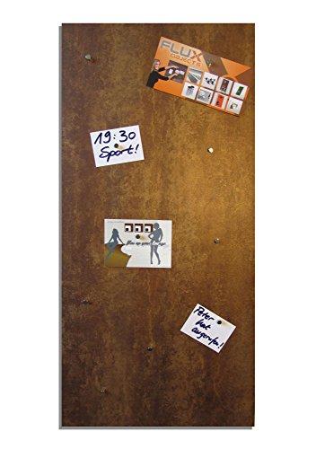Magnet-Pinnwand in Rost-Optik, Memoboard, Magnettafel, magnetisch; inkl. 10 Haft-Magnete und einer Größe von 91,5cm x 46cm