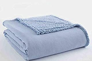Shavel Home Products 102 by 90-Inch Micro Flannel Blanket with Sherpa Back, King