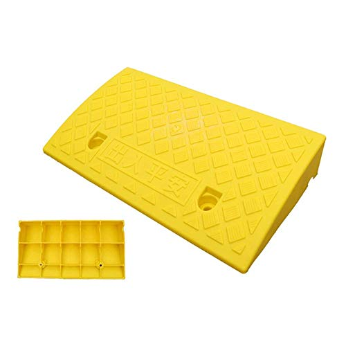 DYB Schwellenrampe Gummirampe Leicht zu tragen Spannungsfestigkeit Verschleißfeste, rutschfeste, leicht zugängliche Rollstuhlautomatik PVC 50x27x7cm, 3 Farben (gelb, Größe: 50x27x7cm)