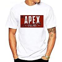 Apex Legends アペックス伝説 T シャツティー半袖シャツプルオーバー印刷ゲーム服用少年男性 ホワイト E XL