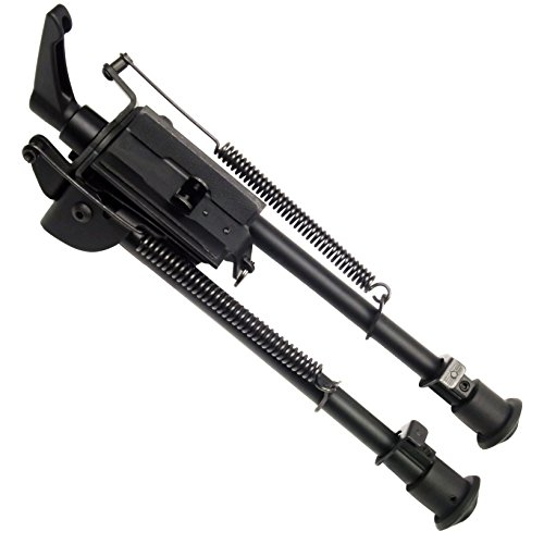 Freelight 9-13 inch Foldable Notched Legs Solid Base bipod Pivoting with Pod-Lock for Swivel Bipod