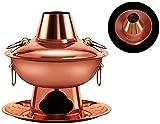 [Circulation thermique]: Le pot de cuivre a une forte conductivité thermique et la chaleur du charbon de combustion chauffe complètement la paroi du four pour chauffer uniformément du fond du pot à la cheminée.Le goût classique est toujours inoubliab...