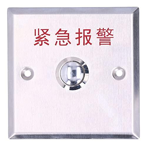 Botón de alarma de emergencia, Interruptor de alarma de emergencia No/com, Botón manual, Panel de acero inoxidable Buena resiliencia, Alta resistencia, Antiextrusión fuerte