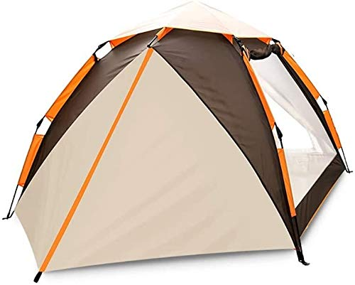 LAZ Family Camping Tent Automatic Camping Rain-Proof Sun Protection Beach Tent UV Protection Sun Shelter (Color : Brown, Size : 200 cm)