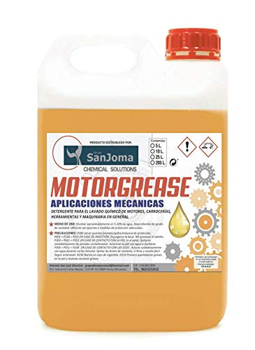 MOTORGREASE. Desengrasante de motor y piezas mecánicas. USO PROFESIONAL. INDUSTRIAL. calidad de producto verificado. (GARRAFA 5L.)