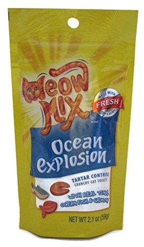 Meow Mix Tartar Control Ocean Explosion Cat Treats (bolsa de 2,1oz)