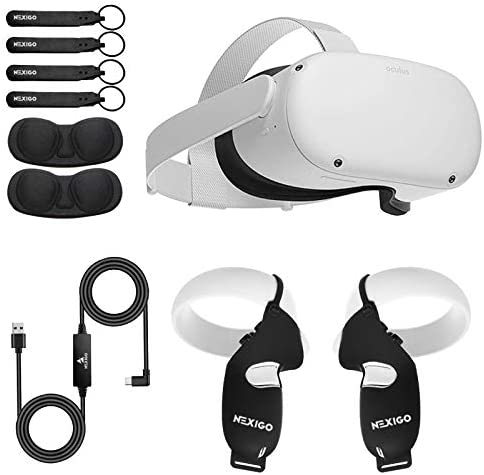 Oculus 2020 Newest Quest 2 VR 64GB Holiday Bundle Advanced All in One Virtual Reality Gaming product image