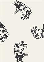 igsticker ポスター ウォールステッカー シール式ステッカー 飾り 841×1189㎜ A0 写真 フォト 壁 インテリア おしゃれ 剥がせる wall sticker poster 010713 うし 動物 白 黒