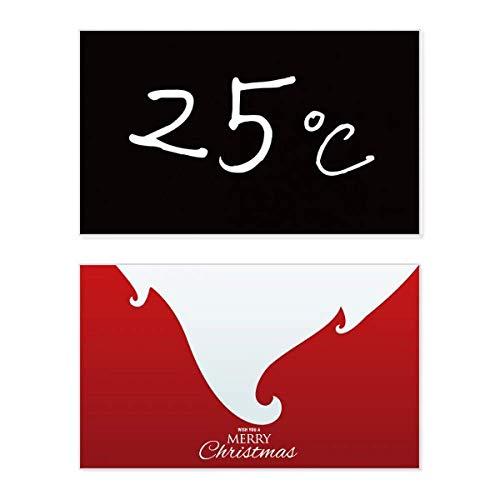 Kowledge Unit Temperatuur Vakantie Vrolijk Kerstmis Kaart Kerstmis Vintage Bericht