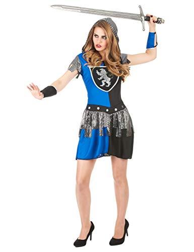 Blaues Ritter-Kostüm für Damen - 3