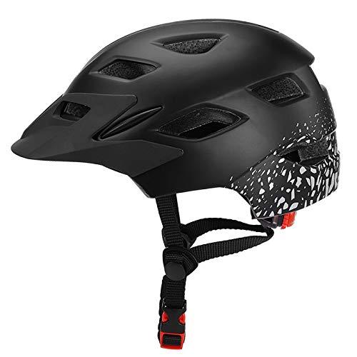 HAHADONG Casco de bicicleta ultraligero para niños, ligero, para ciclismo, patinaje, deportivo, con luz de seguridad, casco de ciclismo, gorra A