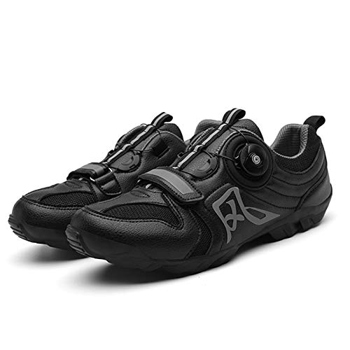 shoe Calzado de Ciclismo Sin Candado para Hombre,Calzado de Ciclismo de Carretera Antideslizante Resistente Al Desgaste ,Calzado De Bicicleta de Montaña Al Aire Libre Ligero Y Transpirable