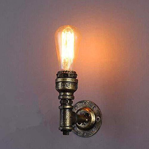 DGHJK Retro Grifo Luz de Pared Arte de Hierro Antiguo Lámpara de Pared Personalidad Restaurante Bar Pasillo Pasillo Decorativo Aplique pequeño Luz cálida E27 220V