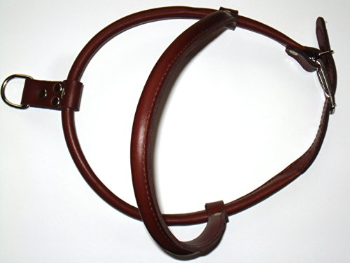 Milan Hundegeschirr aus echtem Leder, rundgenäht, 85cm, braun