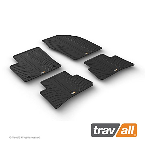 Travall Mats Gummifußmatten Kompatibel Mit Toyota C-HR (Ab 2016) TRM1251 - Allwettermatten Nach Maß Fussmatten Set