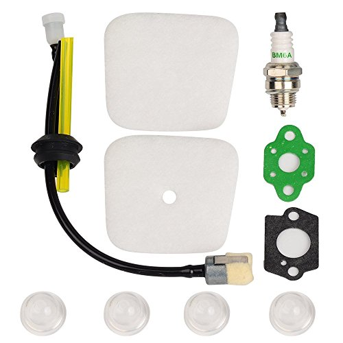 ouyfilters Air Filter mit RePower Kit mit Dichtungen Primerpumpe Zündkerze für Mantis 72227222e 7222M 72257230724079207924Gartenfräse/Kultivator