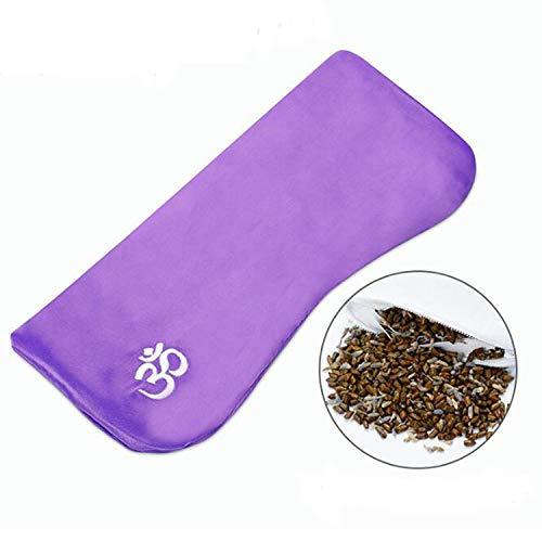 Voviqi Yoga-Augenkissen Damen und Herren, Schlafbrille Verstellbarem Augenschutz für Reisen, Lavendel, Massage, Entspannungsmaske, Aromatherapie...