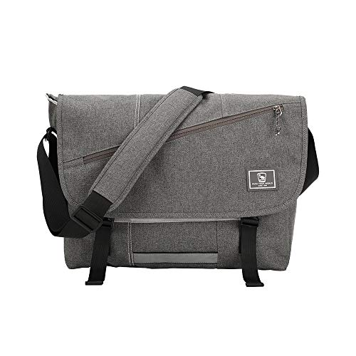 【Waterproof Canvas Messenger Bag】OIWAS messenger bag made of waterproof material which is 600D strength.Protect your things in good condition even in rainy day 【Multi Business Shoulder Briefcase】This leisure pack weight 1.27LB,capacity is 17.8L.Can w...