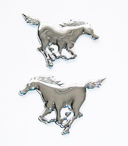 AUTOAUFKLEBER 3D Chrom Deko Aufkleber Emblem Tattoo Schriftzug Auto Sticker (Pferd)