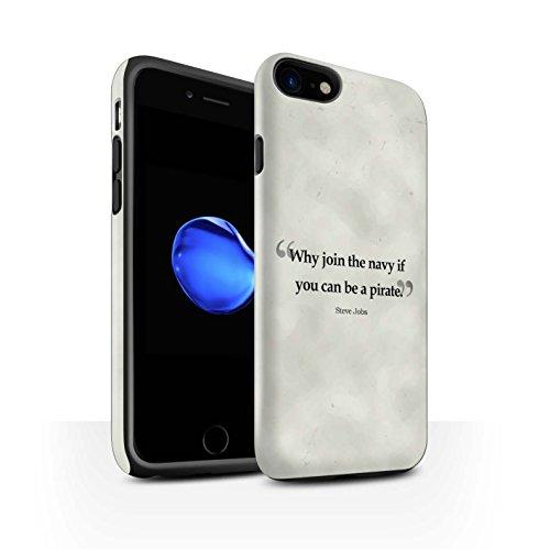 Stuff4 telefoonhoesje/Cover/Skin/IP-3DTBM / Beroemde citaten collectie Apple iPhone SE 2020 Steve Vacatures