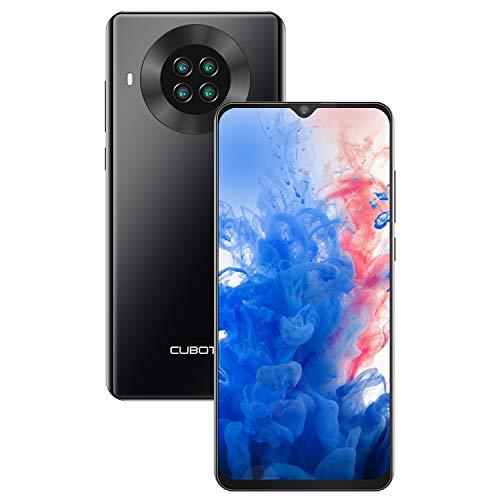 CUBOT Note 20 Smartphone ohne Vertrag, 6.5 Zoll HD Display, 4200mAh Akku, 4 Kameras, Android 10, 3GB RAM+64GB ROM, 4G, Dual SIM, NFC, Face ID, Deutsche Version, Schwarz