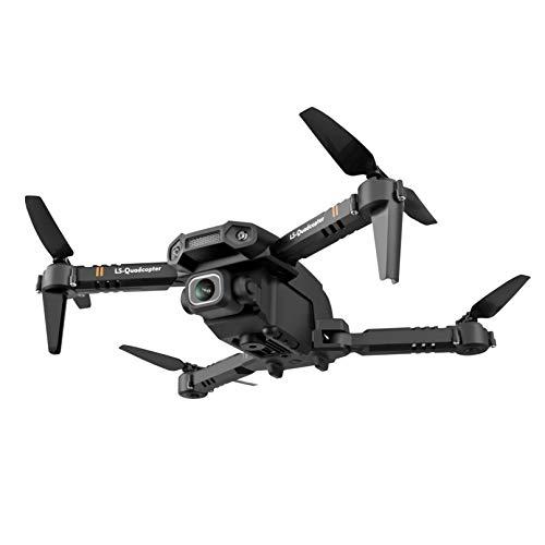 Drohne mit Kamera, Faltbare GPS Drohne mit 4K Kamera Full-HD Live Übertragung Quadcopter gesteuert inkl Koffer Kopfloser Modus Lange Flugzeit Handy gesteuert für Anfänger und Kinder (21.5x11x7cm, A)