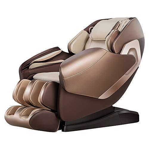 Real Relax SL-Track 3D Schwerelosigkeit Massagesessel Liegesessel für den Ganzkörper mit Musikmassage, Body-Scan-Technologie, Bluetooth