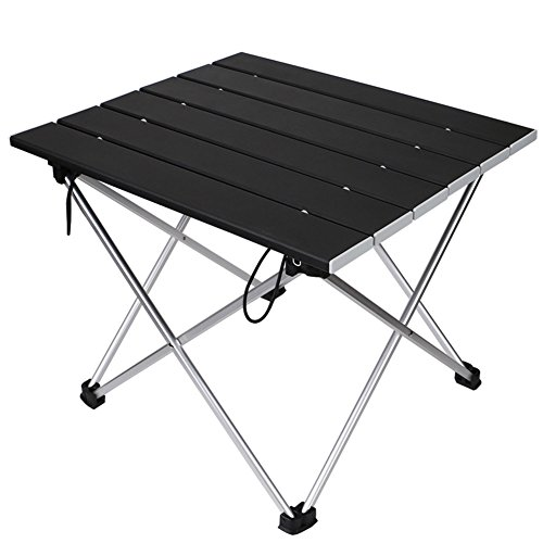 Linkax Tragbar Klapptisch Aluminium Campingtisch mit Tragetasche, Maximale Belastung 30 kg für Camping Picknick, Strand, Garten Grill