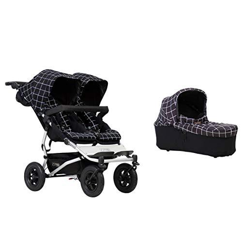 Mountain Buggy Duet Buggy V3 - Cochecito de bebé de doble asiento y capazo