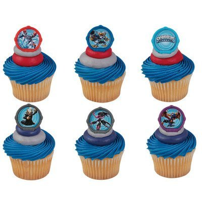 24 Skylanders 3 Portal Power Cupcake Rings Decorations Party