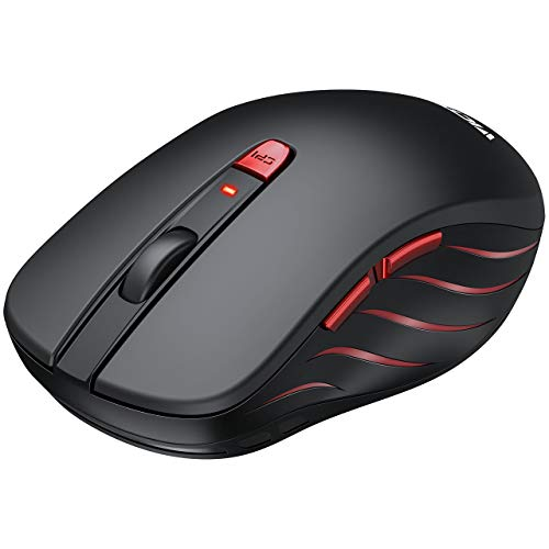 VicTsing Wireless Mouse, 2nd Computer Mouse with 5 Adjustable DPI Levels, Ergonomic Optical USB Mouse with Nano USB Receiver, 6 Buttons for Laptop, Notebook, PC, Black