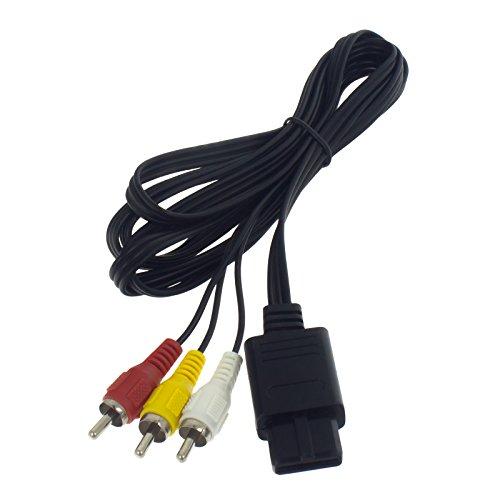 Preisvergleich Produktbild Smartfox TV AV Video Audio Chinch Kabel für SNES Super Nintendo N64 Gamecube mit Super Nintendo Standard-Anschluss