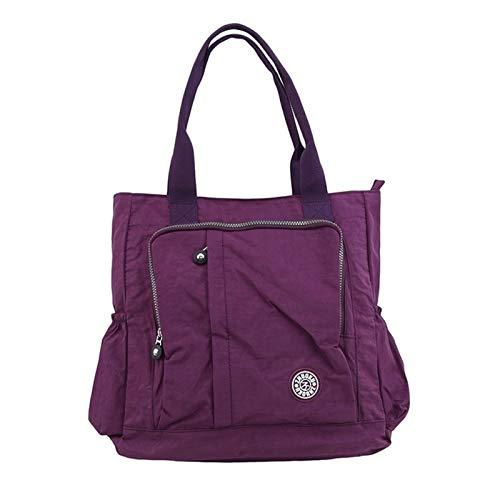 HZMM Tote bag Women's Multi-pockets Shoulder Bag Portable Outdoor Travel Zipper Multi-functions Large Capacity Handbags (Color : Army Green)