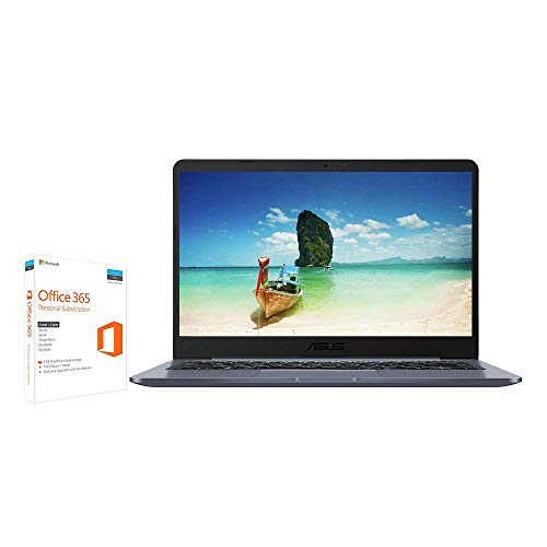 ASUS E406MA 14 Inch HD Laptop with Microsoft Office 365 (Intel N4000 Processor, 64 GB eMMC, 4 GB RAM, Windows 10 S)