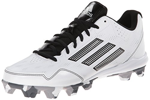 adidas Performance Women's Wheelhouse 2 W Softball Cleat, White/Black/Metallic/Silver, 11 M US