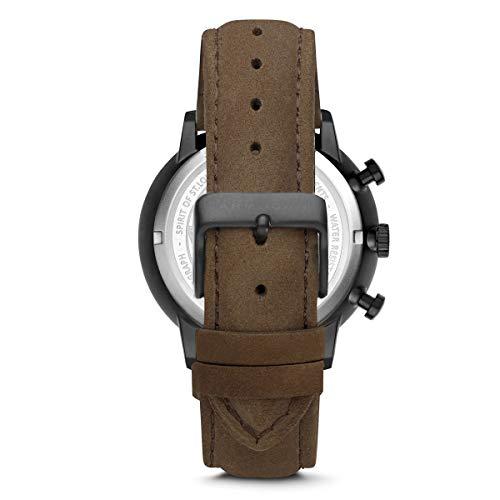 Armogan Spirit of St. Louis - Chocolate Brown - Montre Chronographe Homme Bracelet Daim