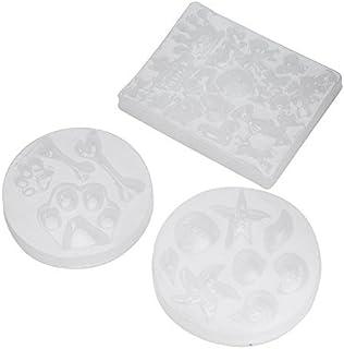3 pcs DIY Art Décoratif Résine époxyde de moules de silicone Forme de coquille de moule de couronne de moule de DIY Décora...