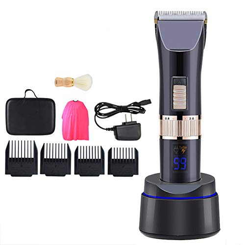 Hair Trimmer for Man Professional Hair Clippers Haircut Beard Trimmer Cordless USB Rechargeable Barber Supplies Hair Cutting Kit Titanium Ceramic Blade LCD Display Best Gift Hair Clipper