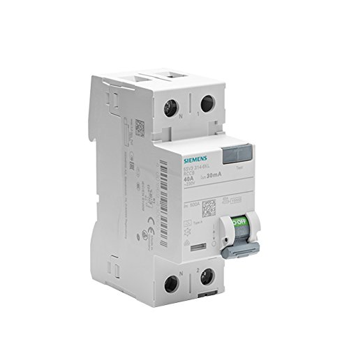 Siemens sentron - Interruptor diferencial 5sv 70mm Clase -a 2 Polos 40a 30ma