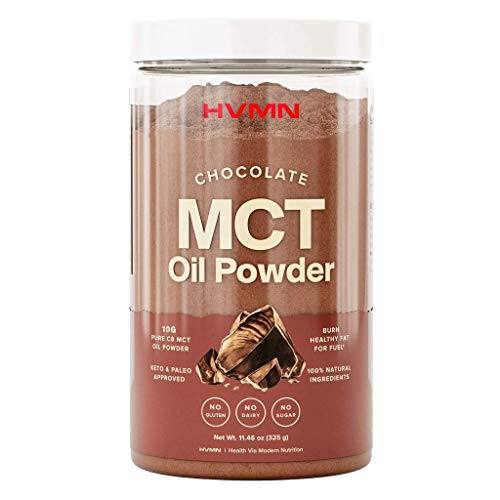 H.V.M.N. MCT Oil Powder - Keto Creamer Powder, for Keto Coffee Creamer, Keto Shake - Pure C8 MCT Oil from Acacia Fiber Powder, MCT Oil Keto Diet Powder - 25 Servings (Chocolate)
