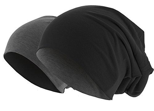 MasterDis Jersey Beanie Reversible, black/charcoal grey