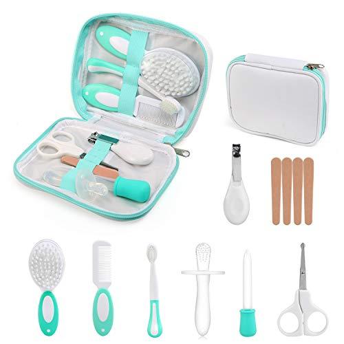 Ballery Babypflegeset, 8-teiliges Set für Baby Alltag Pflege Grooming Healthcare kit mit Nagelknipser Nagelfeile Nagelschere für Fingernägel und Fußnägel für Kinder Neugeborene Weihnachten Geschenk