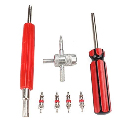 Auto-onderdelen bandenventielkern-remover tool key ventielinzetstukken, voor fiets- en motorfiets-reserveventielkerndeel