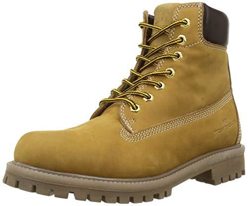 Tom Tailor Mens 9089601 Mid Calf Boot Bootie Boot, Camel, 7 UK