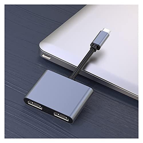 SPFSYF 4in1 estación de Acoplamiento Tipo C Estación de Acoplamiento Double HDMI-Compatible con Pantalla Dual Pantalla Dual USB 3.0 HUB Adaptador Dropshipping New