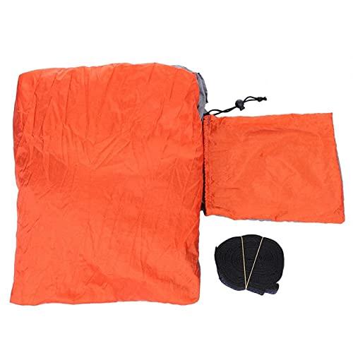 KUIDAMOS Fuerte Capacidad de Carga para Colgar al Aire Libre, Cama Colgante, ensanchar, alargar, Ligero para Interiores y(Grey and Orange)