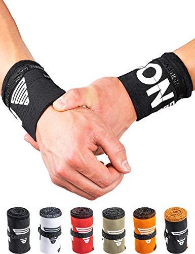 GORNATION® Premium Wrist Wraps/Handgelenk-Bandagen für Stabilität & Performance in hochwertigen Designs - Perfekt für Calisthenics, Crossfit, Kraftsport und Fuctional Fitness - für Männer und Frauen